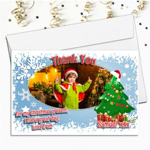 10 Personalised Christmas Thank you Thank you PHOTO Cards N29